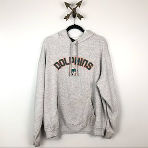 Miami Dolphins Gray Hoodie size XL